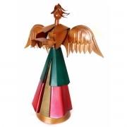 Anjo Enfeite de Natal para Mesa de Jantar Artesanal de Ferro Rustico