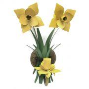 Arandela Artesanal Flor De Ferro Área Externa  e Interna 1 Bocal com Flores
