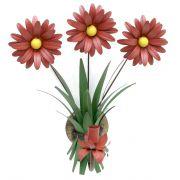 Arandela Para Varanda Artesanal De Ferro com Flores Rustica