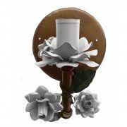 Arandela de Artesanato em Ferro com Flores Artesanais Iluminação Lateral