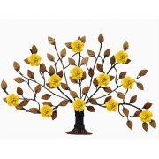 Arvore de Ferro para Parede com Flores Rustico e Decorativo Artesanal Arvore
