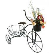 Suporte Para 2 Vasos De Flor E Bicicleta De Ferro Jardim