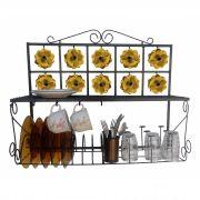 Escorredor de Pratos Paneleiro Decorativo Artesanal Grande para Cozinha