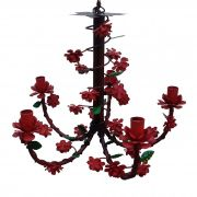 Lustre de Ferro Artesanal com Flores para Sala e Cozinha Fabricante