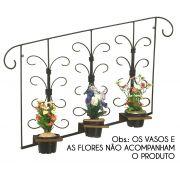Floreira de Parede Ferro Rustica Artesanal Suporte para Vasinhos de Flor