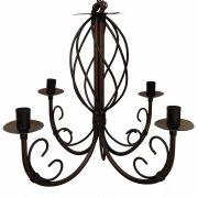 Lindo Lustre Trançado de Ferro Vintage para Iluminação de Varanda Retro