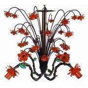 Lindo Pendente de Flores Decoração Rustica em Ferro para Varanda