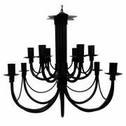 Lindo Pendente Luminaria de Teto  Decorativa Sala Dois Andares Preto