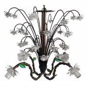 Luminária Artesanal Florida em Metal para Iluminação de Sala de Estar
