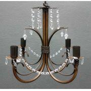 Luminaria Bonita com Cristais Para Iluminação De Quarto De Casal Moderno