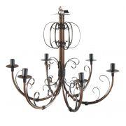 Luminária de Ferro para Teto de Cozinha Rústica Envelhecido Lâmpadas