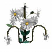 Luminária de Ferro para Teto Rústica com Flores Varias Cores para Sala de Estar