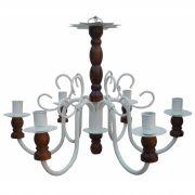 Luminária De Madeira e Ferro para Iluminação De Varanda Colonial Barato