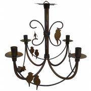 Luminária de Pássaros Retrô para Decoração e Iluminação de Área Gourmet
