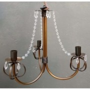 Luminaria De Teto de Ferro com Cristal Acrilico Artesanal para Quarto