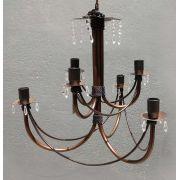 Luminaria Dupla de Metal Artesanal para Decoração de Sala De Jantar