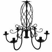 Luminária Espiral em Ferro Artesanal para Sala de Jantar Moderna