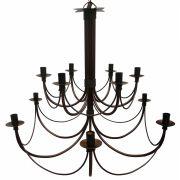Luminária Grande de Ferro com 2 Partes para Iluminação de Salão De Festas