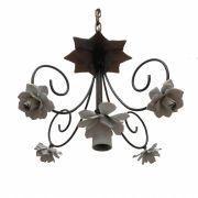 Luminaria Simples Iluminação de Banheiro Decorativa Com Flores Artesanais
