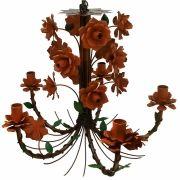 Lustre Artesanal Direto da Fábrica com Flores de Ferro para Varanda e Cozinha