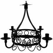 Lustre Clássico em Metal Negro para Decoração de Sala de Jantar Retrô