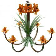 Luminaria Artesanal Rustica em Ferro com Flores Preço de Fabricante
