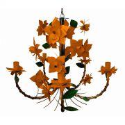 Pendente Artesanal Preço de Fabrica para Sala de Jantar em Ferro com Flores