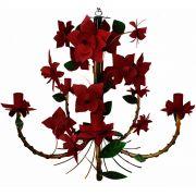 Luminaria de Teto Artesanal Classica com Flores de Ferro Sala de Jantar