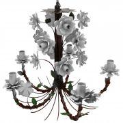 Lustre de Ferro Preço de Fábrica Artesanal com Flores para Sala de Jantar