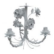 Lustre De Flores de Ferro Decorativo para Quarto Simples Provençal