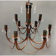 Lustre Dois Andares Decorativo para Iluminação de Sala Grande Moderna