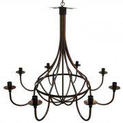 Lustre Grande de Metal Medieval para Sala De Jantar e Decoração de Festas