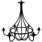 Lustre Grande Medieval de Metal para Iluminação Salão de Festas Rustico