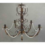 Lustre Moderno de Metal com Cristais de Acrílico Decorativos Preço de Fabrica