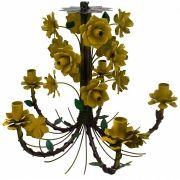 Lustre Pendente Artesanal com Flores Preço de Fábrica Desconto Fabricante