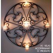 Mandala Artesanal Em Ferro Luminária Castiçal para Velas Decorativo