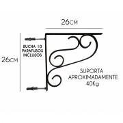 Mão Francesa Rustica de Ferro para Prateleira Cantoneira Reforçada 26 cm