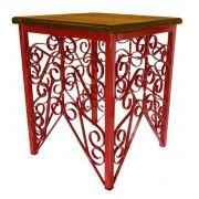 Mesinha de Canto De Ferro Artesanal para Sala de Jantar Rustica Decorativa