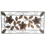 Moldura Artesanal Colonial Rustica de Ferro com Flores para Parede