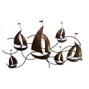 Painel Artesanal em Ferro para Sala de Jantar Decorativo Rústico para Parede