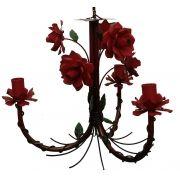Pendente Artesanal com Flores de Ferro para Cozinha e Varanda