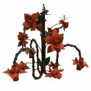 Pendente De Ferro Artesanal Para Sala De Estar Rustico com Flores Coloridas