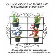 Porta Vasinhos de Flor para Varanda e Janela Jardim de Inverno Rustica
