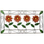 Quadro para Decoração de Quarto Rustico em Ferro com Flores Coloridas