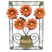 Quadro para Sala de Jantar Lindo com Flores de Ferro e Lata Artesanal