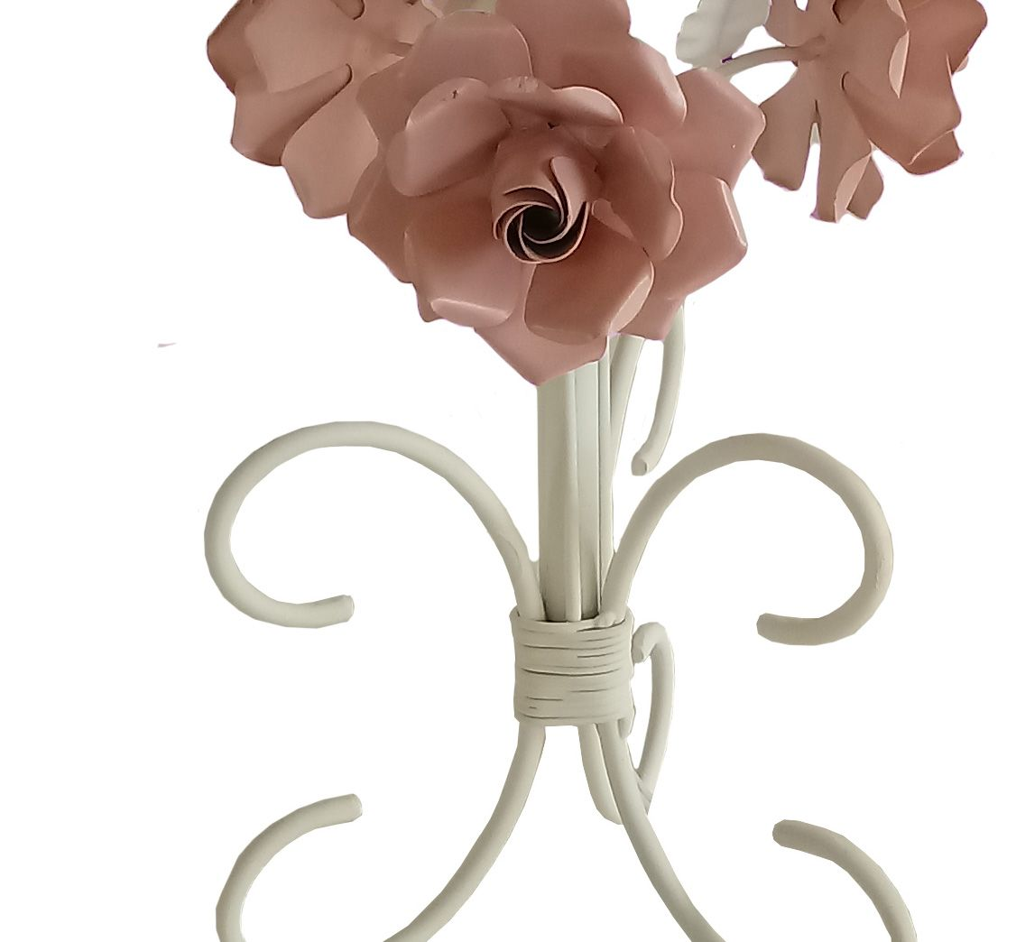 Abajur Rustico de Menina Simples Barato com Flores para Quarto