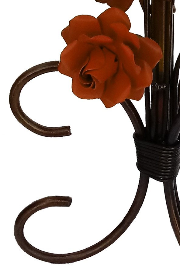 Abajur Quarto de Casal Rustico com Flores Colorido Iluminação Simples