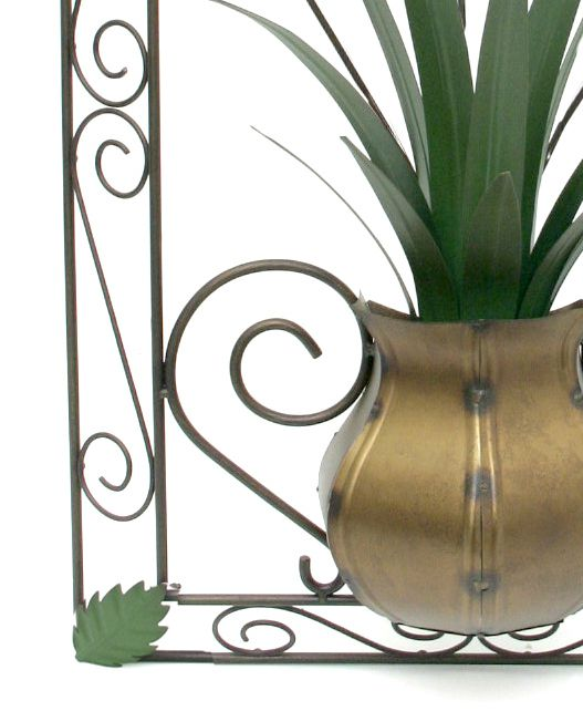 Quadro Painel Artesanal para Sala Decorativo em Ferro com Flores