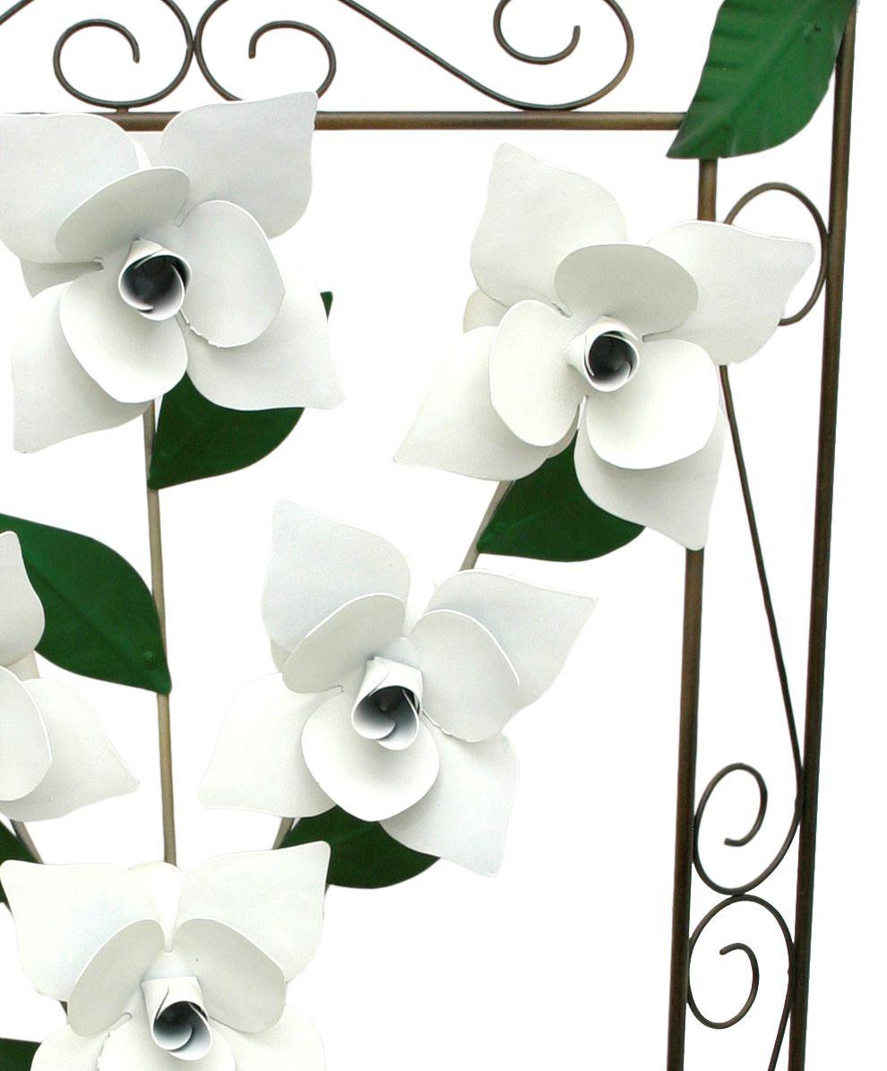 Quadro Artesanal de Parede com Flores de Ferro Rústico para Cozinha