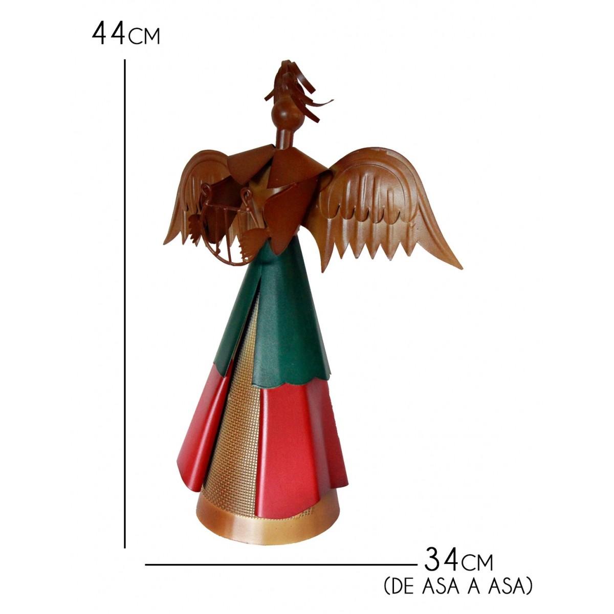 Anjo Decoração de Natal Artesanal de Ferro Rustico para Enfeite de Mesa